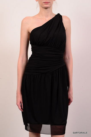 VERA WANG Black One Shoulder Warp Dress EU 38 NEW US 4 / S - SARTORIALE - 1