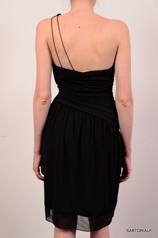 VERA WANG Black One Shoulder Warp Dress EU 38 NEW US 4 / S - SARTORIALE - 3