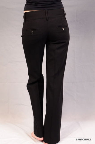 DOLCE & GABBANA ITALY Black Horsebit Wool Pants IT 38 NEW US 2 / XS - SARTORIALE - 2