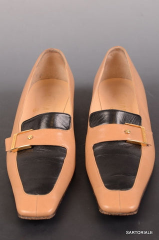 CHANEL Tan & Brown Leather Shoes Slippers Loafers EU 36.5 / US 6 6.5 - SARTORIALE - 1