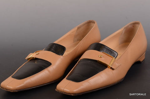 CHANEL Tan & Brown Leather Shoes Slippers Loafers EU 36.5 / US 6 6.5 - SARTORIALE - 2