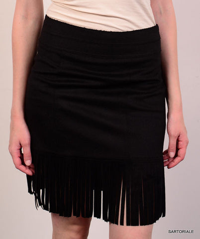 BLUMARINE Made in Italy Black Wool - Angora - Cashgora Skirt IT 40 NEW US 4 / S - SARTORIALE - 1