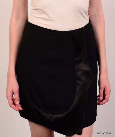 GIVENCHY Paris Black Skirt with Silk Trim Size FR 38 NEW US 8 / M - SARTORIALE - 1