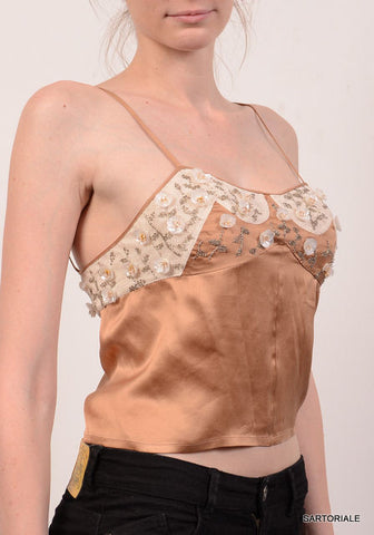 CHRISTIAN DIOR Beige Silk Blouse Top Size EU 36 NEW US 6 / S - SARTORIALE - 1