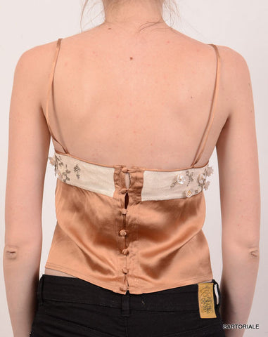 CHRISTIAN DIOR Beige Silk Blouse Top Size EU 36 NEW US 6 / S - SARTORIALE - 3