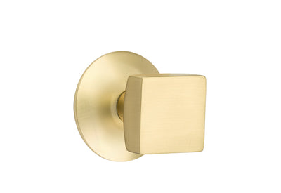 Emtek Square Knob with Modern Rosette