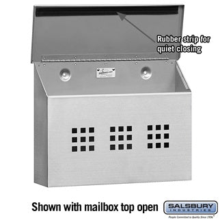 Salsbury 4500 Series Standard Stainless Steel Mailboxes - Decorative Horizontal Style