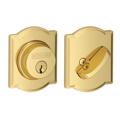 Schlage B60 Single Cylinder Deadbolt with Camelot Trim