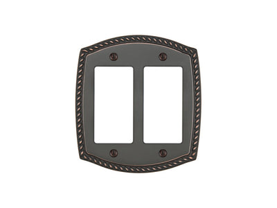 Forged Brass Rope Switch Plate - Rocker