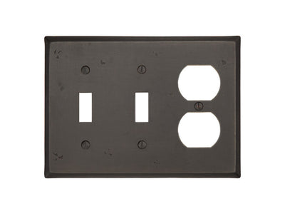 Forged Brass Colonial Switch Plate - Combination