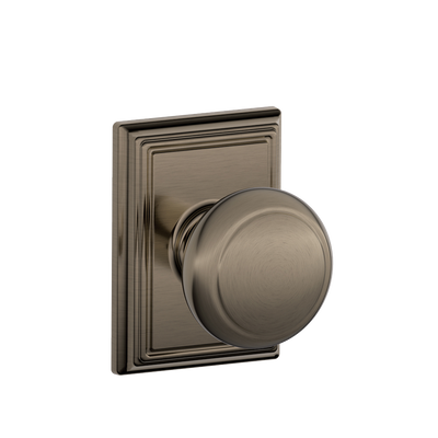 Andover Passage Knob with Addison Decorative Trim