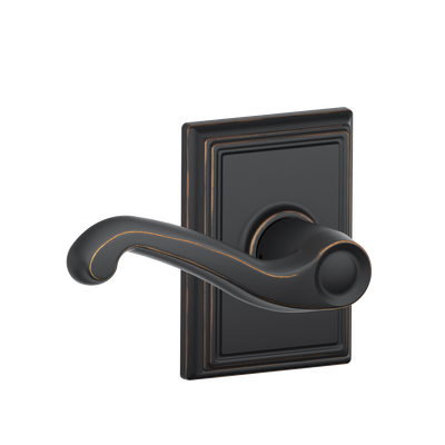 Flair Passage Lever with Addison Decorative Trim