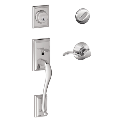 Schlage Addison Front Entry Handleset with Accent Lever