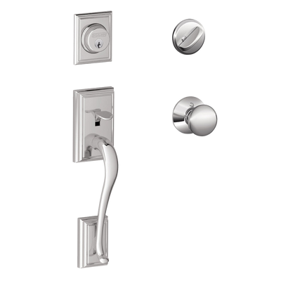 Schlage Addison Front Entry Handleset with Plymouth Knob