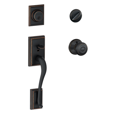 Schlage Addison Front Entry Handleset with Georgian Knob