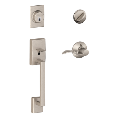 Schlage Century Front Entry Handleset with Accent Lever