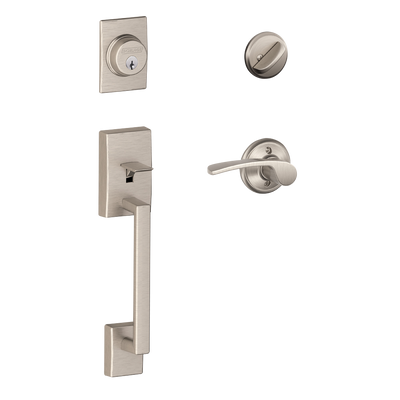 Schlage Century Front Entry Handleset with Merano Lever