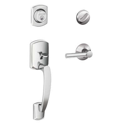 Schlage Greenwich Front Entry Handleset with Broadway Lever