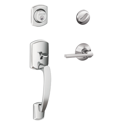 Schlage Greenwich Front Entry Handleset with Latitude Lever