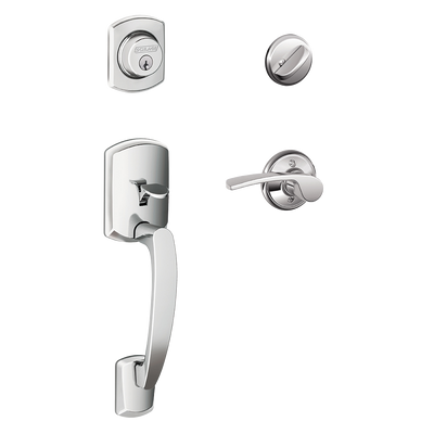 Schlage Greenwich Front Entry Handleset with Merano Lever