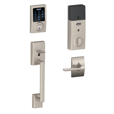 Schlage Connect™ Touchscreen Deadbolt (Century Style) with Century Handleset & Latitude Interior Lever (Century Decorative Trim)