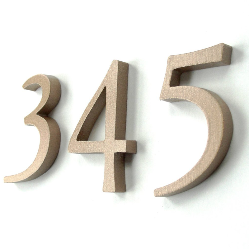 cast metal house numbers letters garamond style