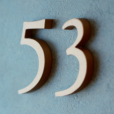 Cast Metal House Numbers & Letters - Garamond Style