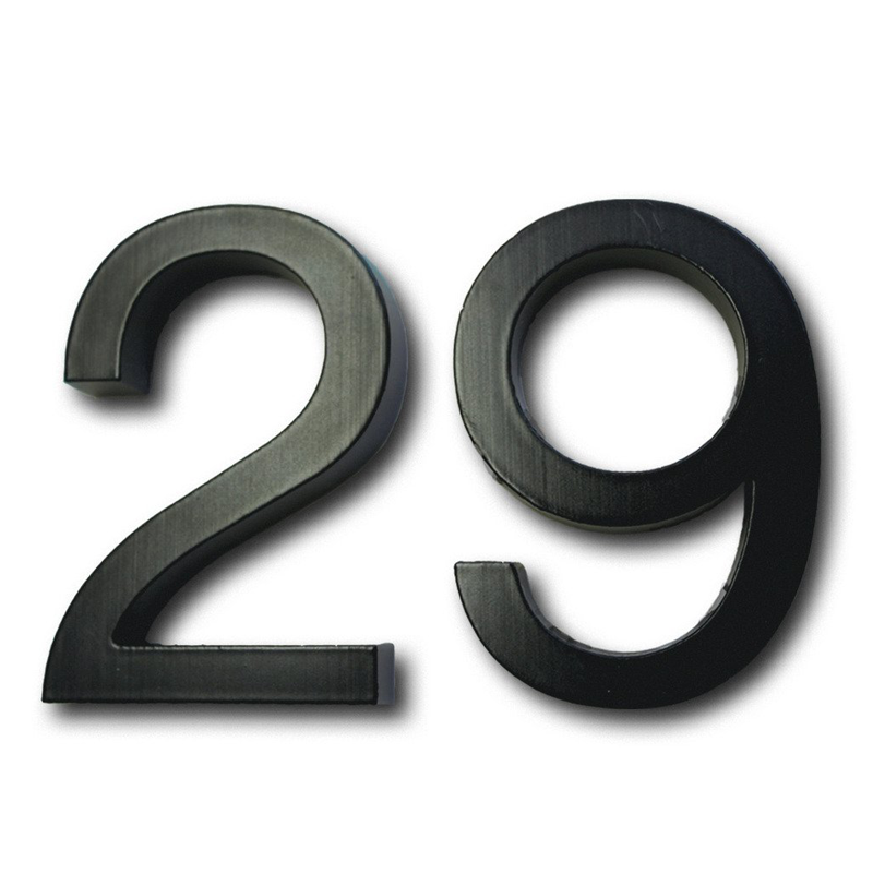 Cast Metal House Numbers U0026 Letters   Helvetica Style