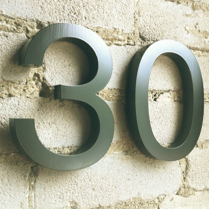 Cast Metal House Numbers  U0026 Letters - Helvetica Style