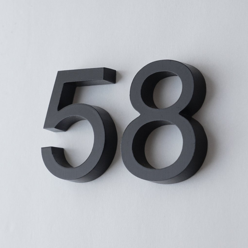 Exceptionnel Cast Metal House Numbers U0026 Letters   Helvetica Style