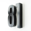 Cast Metal House Numbers & Letters - Hydro Style