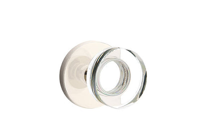 Emtek Moden Disc Crystal Knob with Disk Rosette