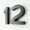 Cast Metal House Numbers & Letters - Demi Style