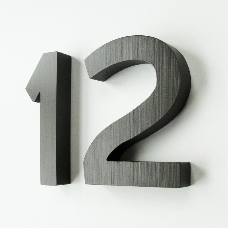Cast Metal House Numbers U0026 Letters   Demi Style