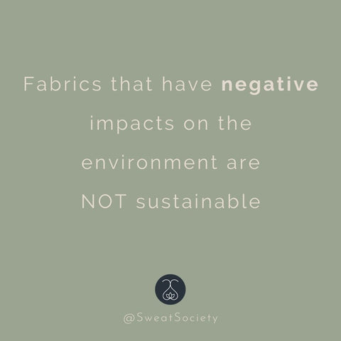 sustainable clothing is not