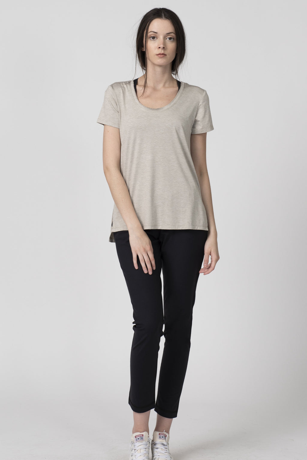 Shop Tonic Activewear Sweat Society Beryl T-shirt Sand Canada USA