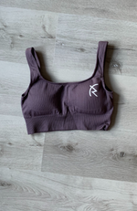 Malaika Ribbed Seamless Sports Bra - Purple