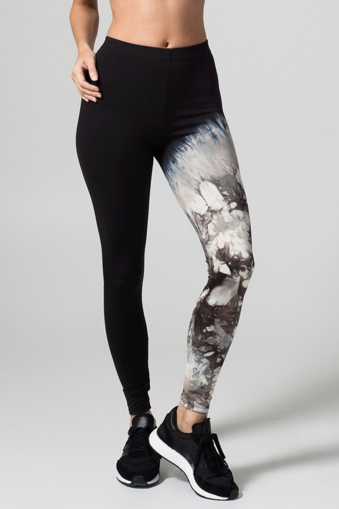 Adriana Legging | Black + Coffee