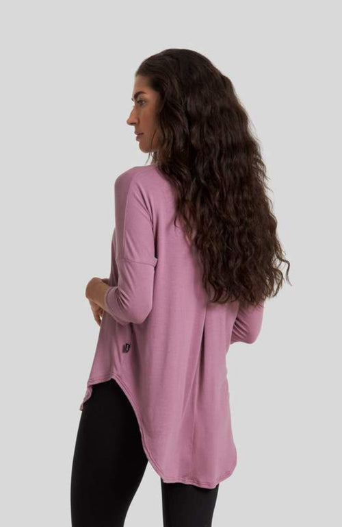 Women's Mauve Ethical Top - made in canada