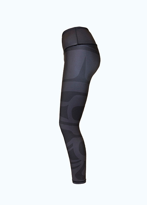 NoMiNoU Maple Leaf Black Legging Sweat Society Ethical Activewear