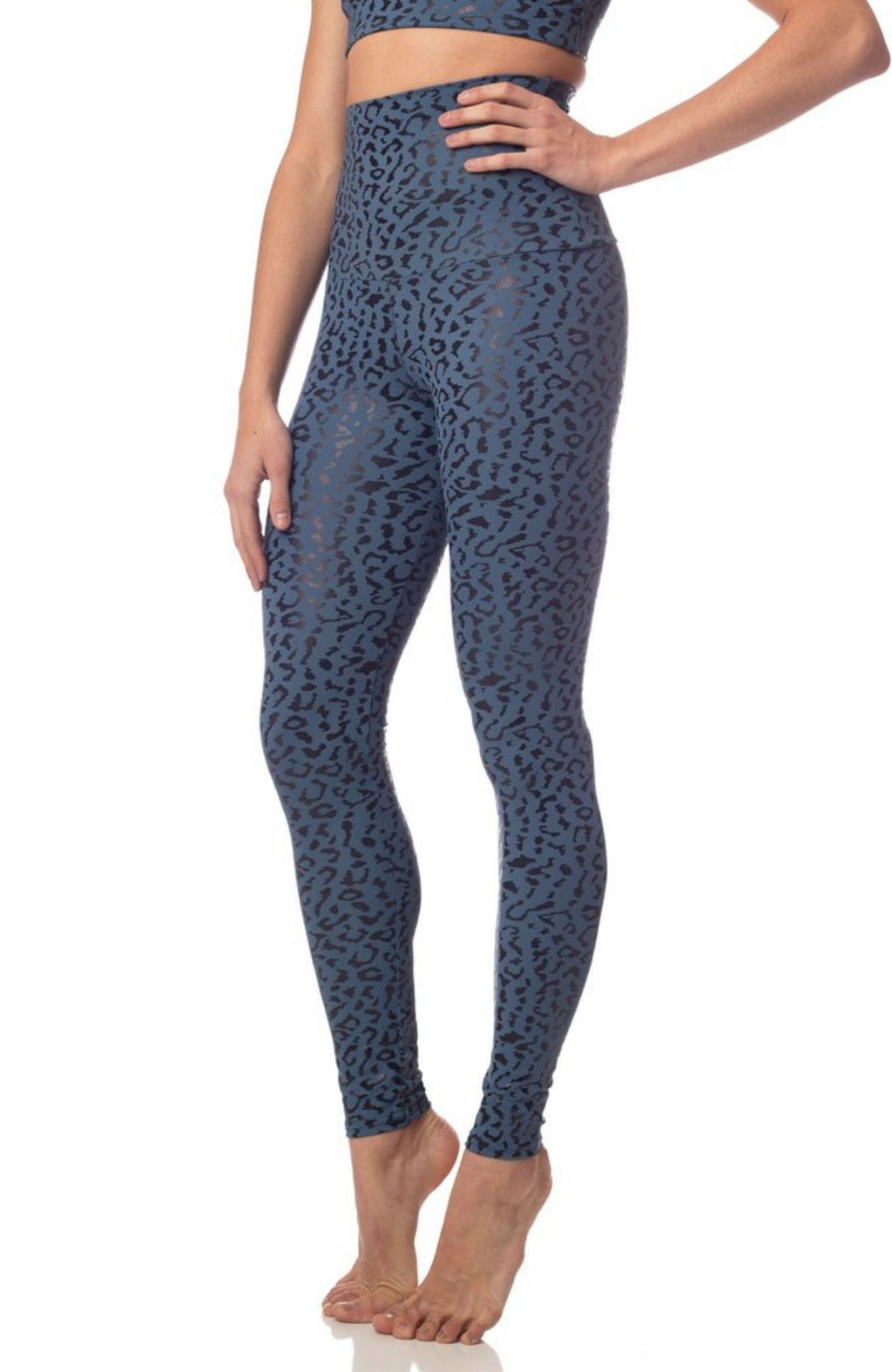 High waisted women's leopard leggings - ethically made