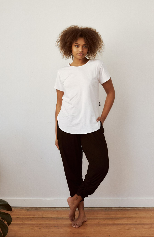 Sweat Society Ethical Activewear Free Label Jacquie Tee Canada USA