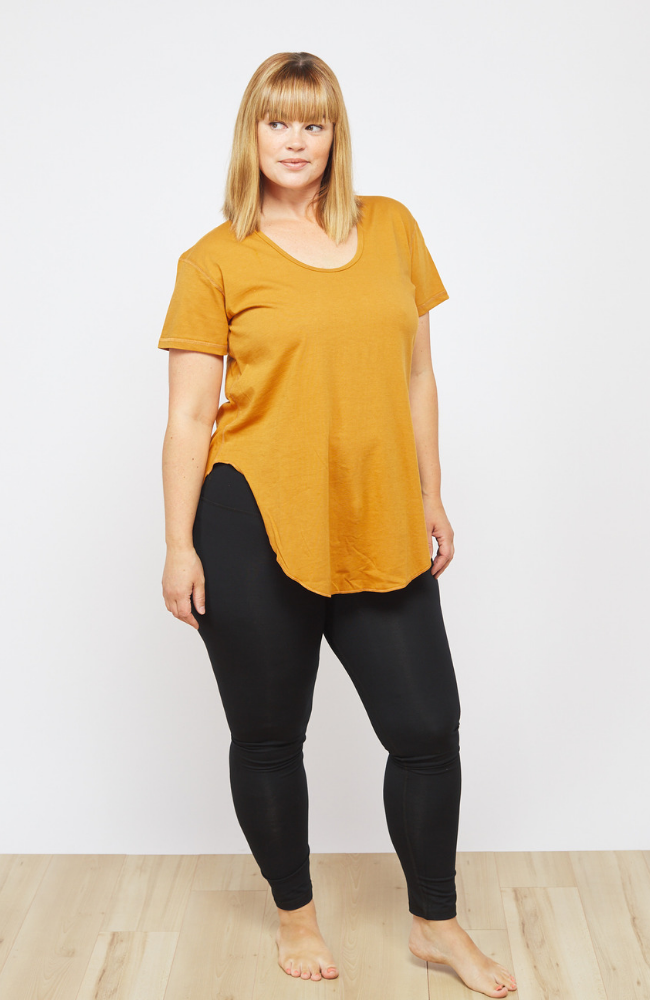 Free Label Golden Jaimee Tee Sweat Society Activewear Canada USA