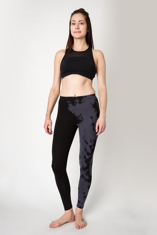 Adriana Legging | Black + Charcoal