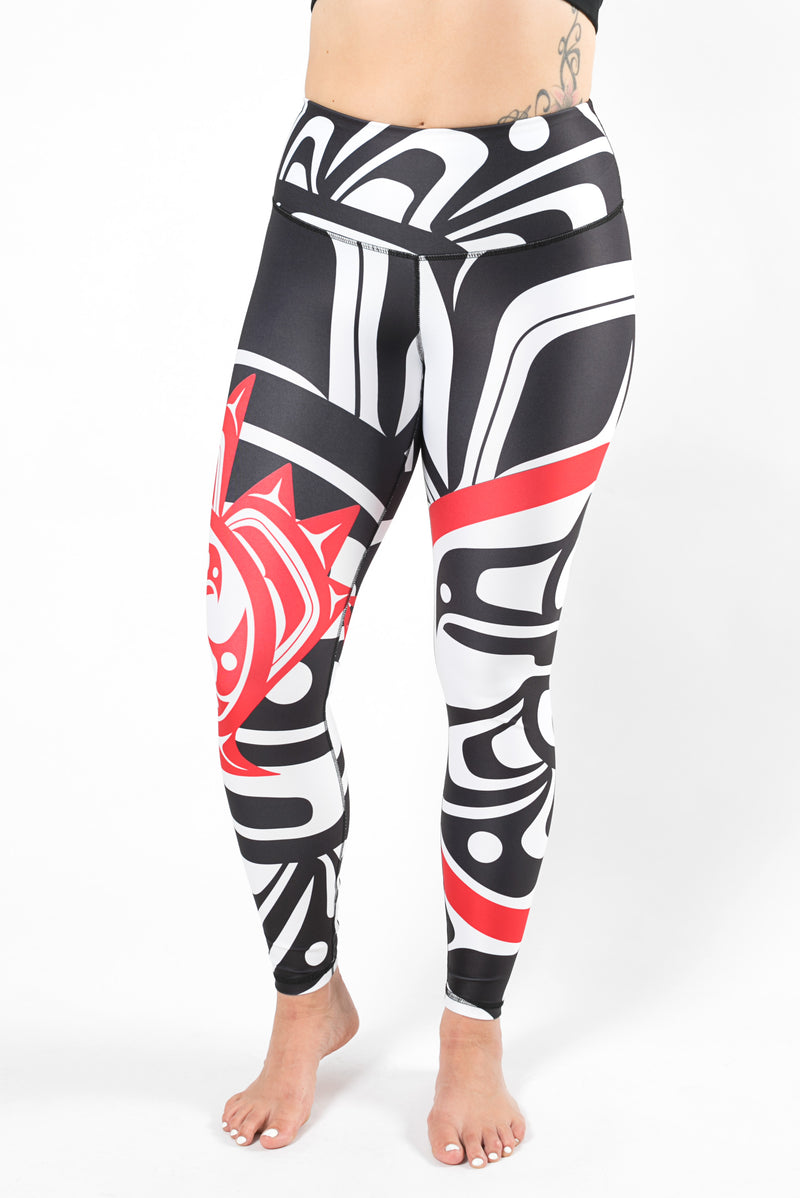 Nominou Sweat Society Maple Leaf White Legging Canada USA