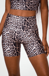 Onzie High Rise Mini Biker Short Leopard Sweat Society Activewear Canada USA