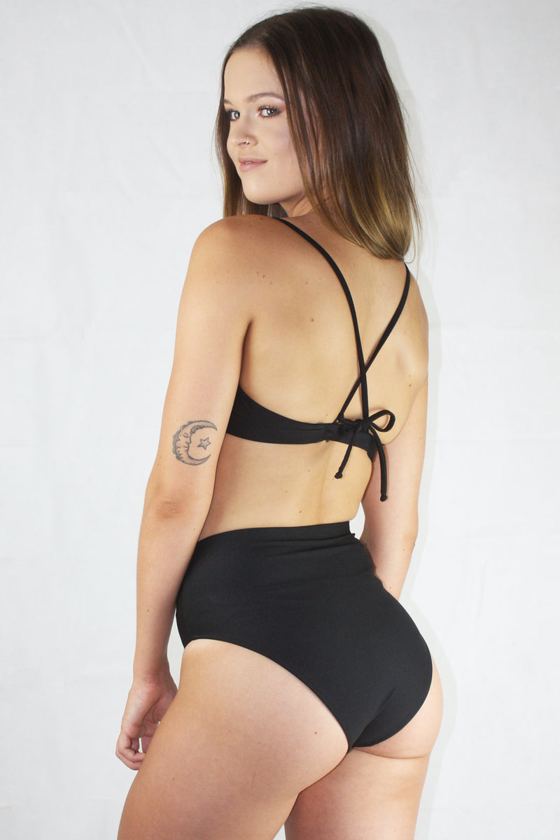 Refresh Swim Crop - Black
