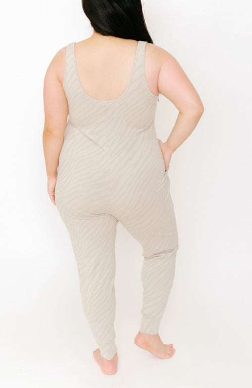SmashTess Tuesday Romper  tan tiger Women's sustainable and ethical clothing canada