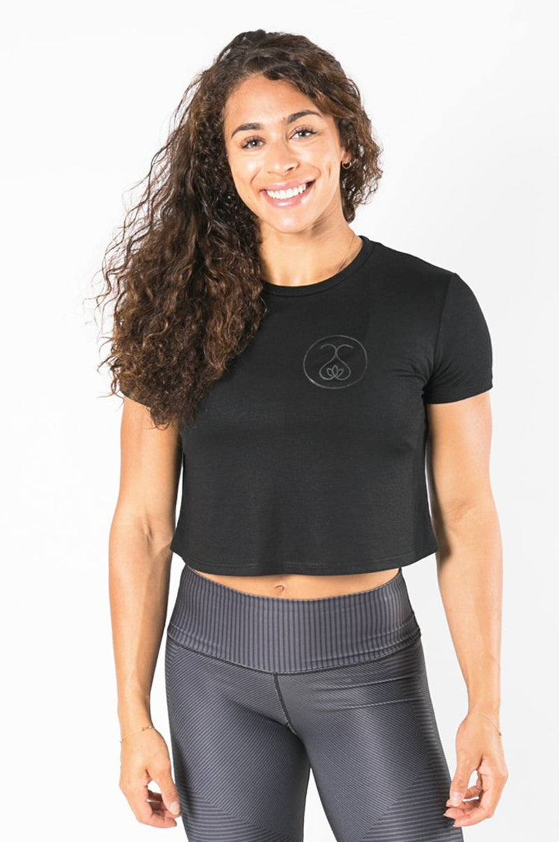 Sweat Society Blair cropped tee Ethical Activewear