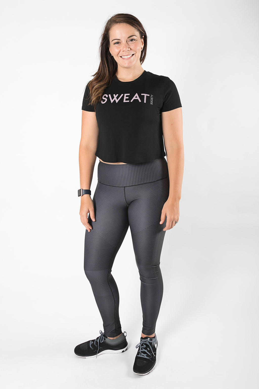Sweat Society Bridgette Cropped Tee Ethical Activewear